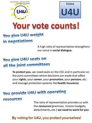 Pourquoi voter pour U4U